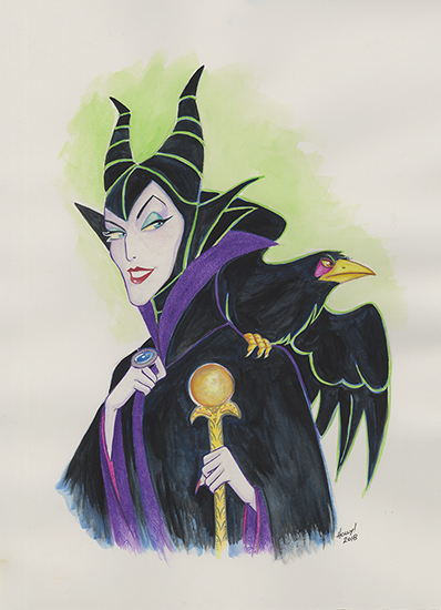 The Beauty Of Evil Maleficent And Diaval Disney