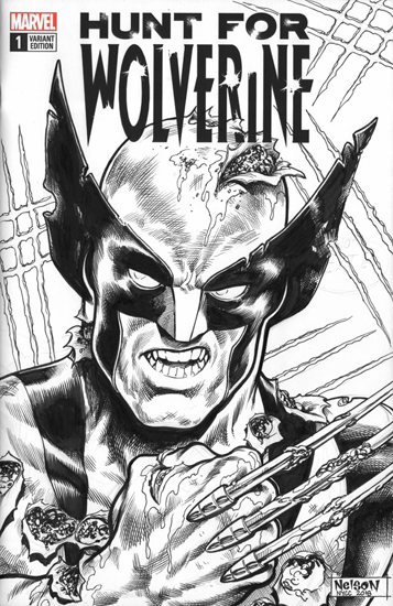 Hunt for Wolverine Comic Sketch Cover: NYCC Special, Nelson DeCastro