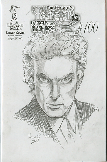 Dr. Who Sketch Cover, Holly Golightly