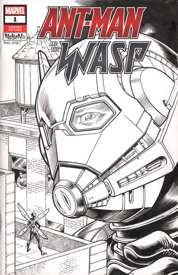 Ant-Man and the Wasp Comic Sketch Cover - Version 2, Nelson DeCastro