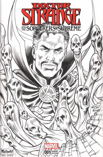Doctor Strange and the Sorcerers Supreme Comic Sketch Cover - Version 2, Nelson DeCastro