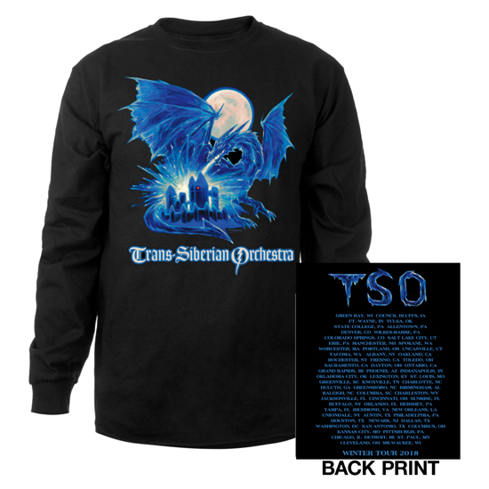 2018 TSO Ice Dragon - LONG SLEEVE T-Shirt - XL, Greg Hildebrandt