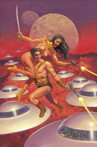 Warlord of Mars Issue 5 Cover, Greg Hildebrandt