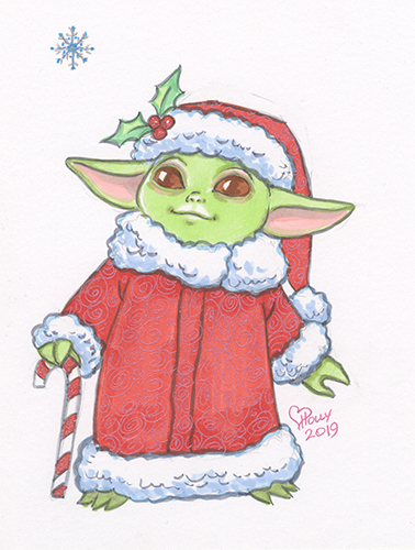 Baby Yoda - First Snow Flake, Holly Golightly
