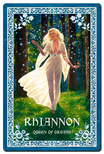 Rhiannon - Vintage Metal Sign - Small, Greg Hildebrandt