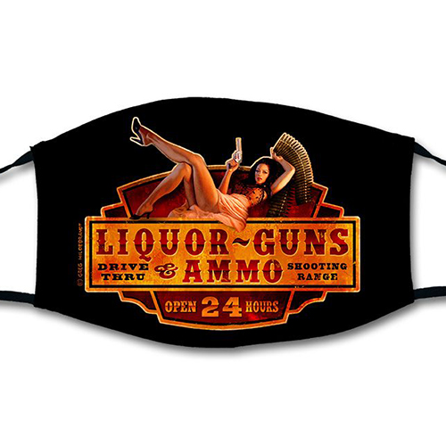 Liquor Guns and Ammo - Mask, Greg Hildebrandt