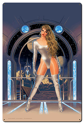 Lunar Fantasy - XL Tin Sign w/o Text, Greg Hildebrandt