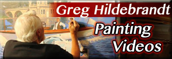 Greg Hildebrandt paints live and interviews.