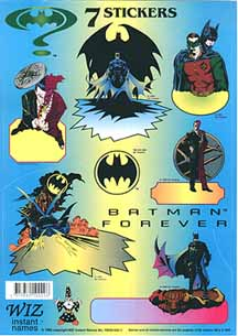 Batman Forever stickers